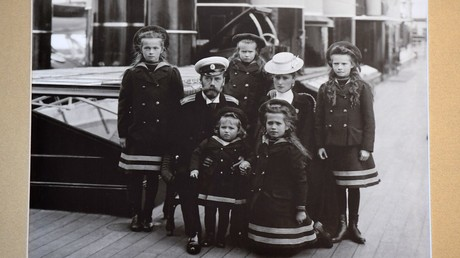 A photo of Emperor Nicholas II's family on the deck of the Standart yacht (1907), displayed at the Museum of the Saint Imperial Family, Yekaterinburg © Sergey Pyatakov