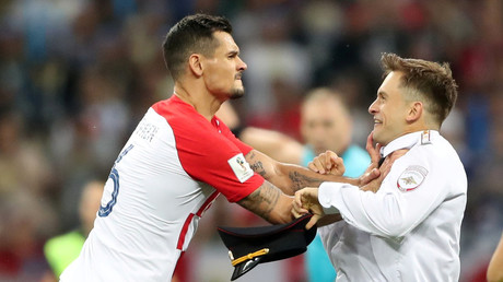 'I wanted to throw him from the stadium': Croatia's Lovren on flooring Pussy Riot protester