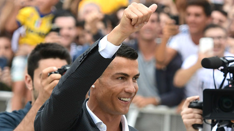 Juventus present Cristiano Ronaldo to fans (VIDEO)