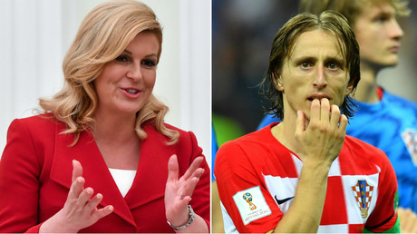 Hold the front page! Croatian president grabs 25% more headlines than Modric at WC final