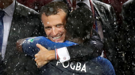 Vive la dab! Macron does dance move with World Cup winner Pogba (VIDEO)