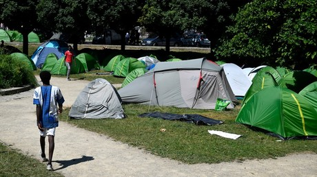 Hundreds of refugees expelled from public park in Nantes after court ruling  (VIDEO)