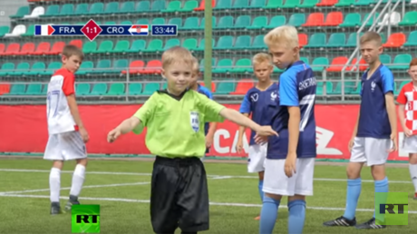 Cute kids recreating World Cup final causes online race debate. Must it always end like this?