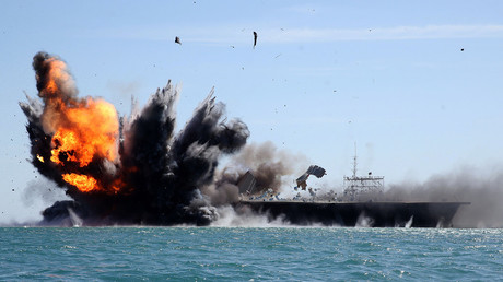 FILE PHOTO: Iran's military drill in the Strait of Hormuz © Hamed Jafarnejad