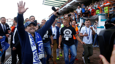 Maradona will 'train together with the guys' at new team in Belarus