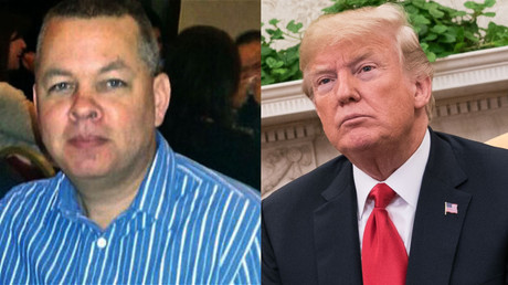 Trump has threatened Turkey with big sanctions if they do not release detained American pastor, Andrew Brunson (L). © Global Look Press