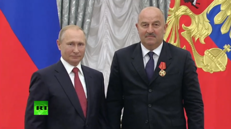 Putin awards prestigious 'Order of Alexander Nevsky' to World Cup coach Cherchesov