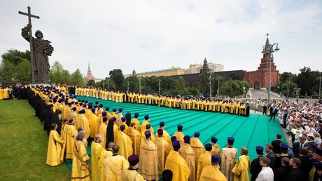 The 1030th anniversary of the adoption of Christianity by Kievan Rus celebrations in Moscow. © Alexander Zemlianichenko