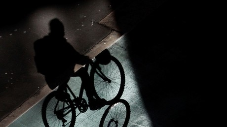 A silhouette of a bicycle rider. [File Photo]