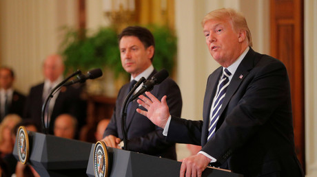Donald Trump holds a press conference with Italian Prime Minister Giuseppi Conti © Brian Snyder
