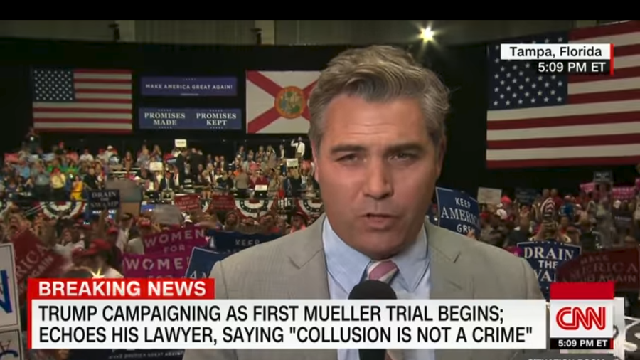 CNN's Jim Acosta Faces Taunts from Trump Supporters at Tampa Rally