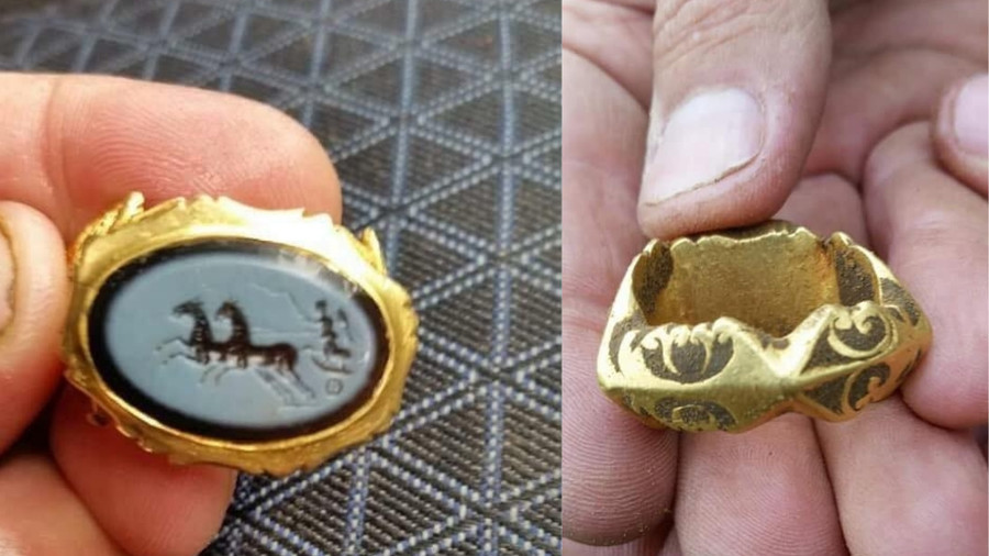 1,800yo Roman gold ring discovered by metal detectorist (PHOTOS)