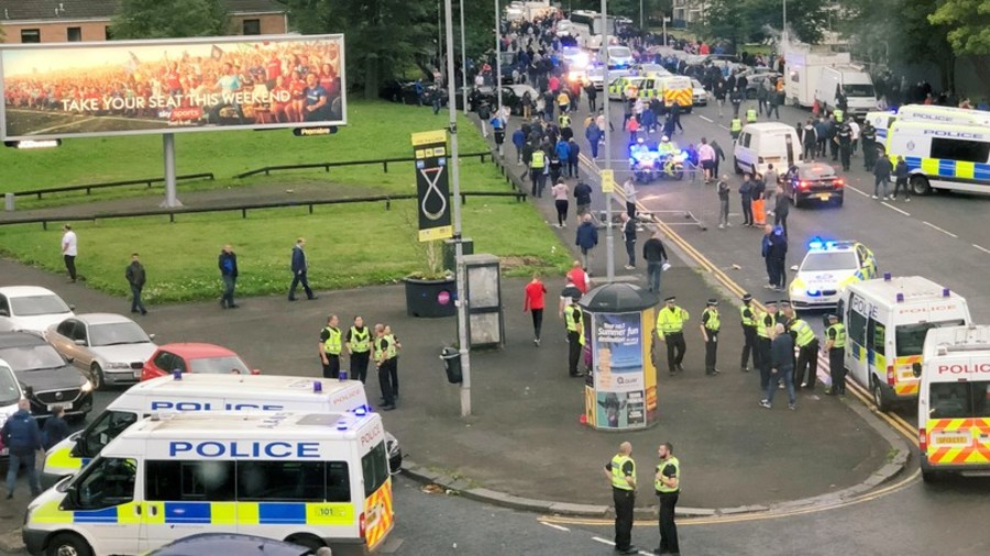 Two Croatian fans stabbed in Glasgow before Europa League game
