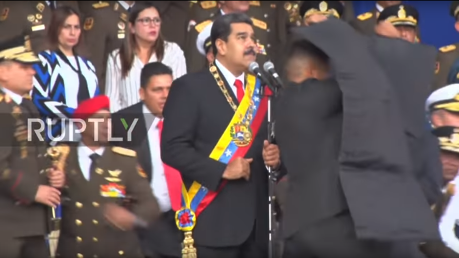 VIDEOS show Maduro's speech cut midway by explosion, panic ensues