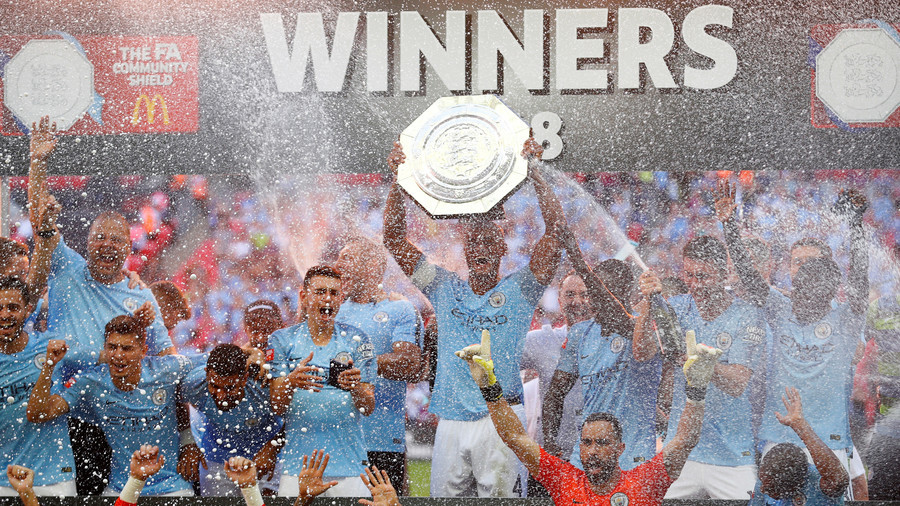 Manchester City win Community Shield in first Guardiola v Sarri duel of the season