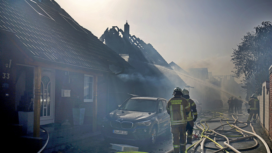 500 firefighters battled to control massive blaze in Germany that injured at least 40