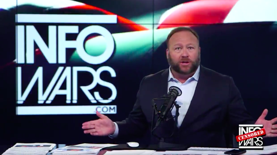 Infowars app surges in popularity after tech platforms move against Alex Jones