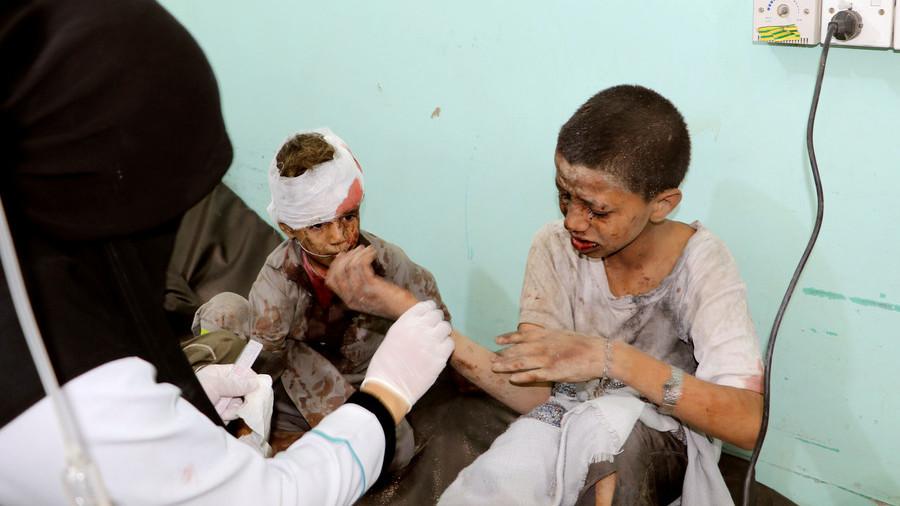 Blood spattered children & broken bodies: Disturbing VIDEO reveals bus attack horror in Yemen
