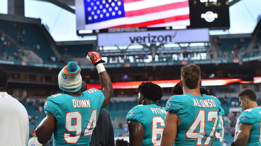 Find another way' Pre-season NFL anthem protest draws Trump criticism
