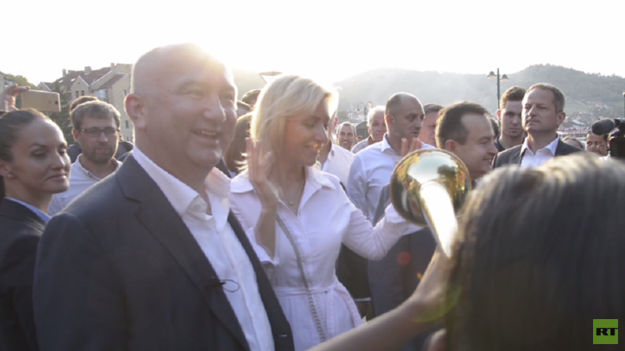 Russian FM spokesperson Zakharova moves to the grooves of trumpet festival in Serbia (VIDEO)