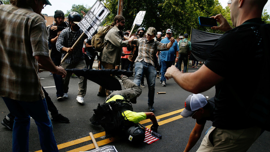 Here we go again! US lawmaker says he was told Moscow played role in Charlottesville riots