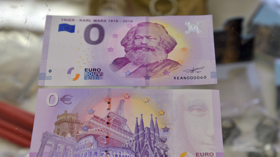 Karl Marx 'zero-euro' bill becomes German souvenir hit with 100k sold