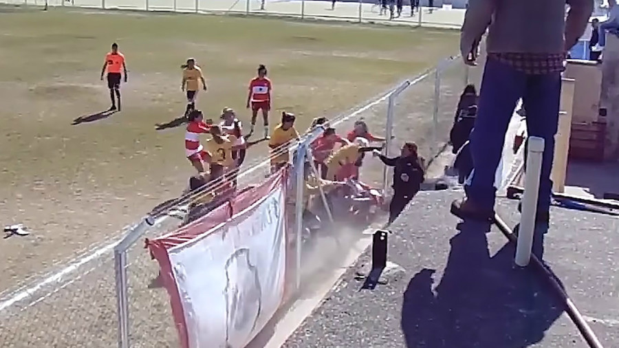 4 hospitalized as women's football match descends into chaotic brawl in Argentina (VIDEO)