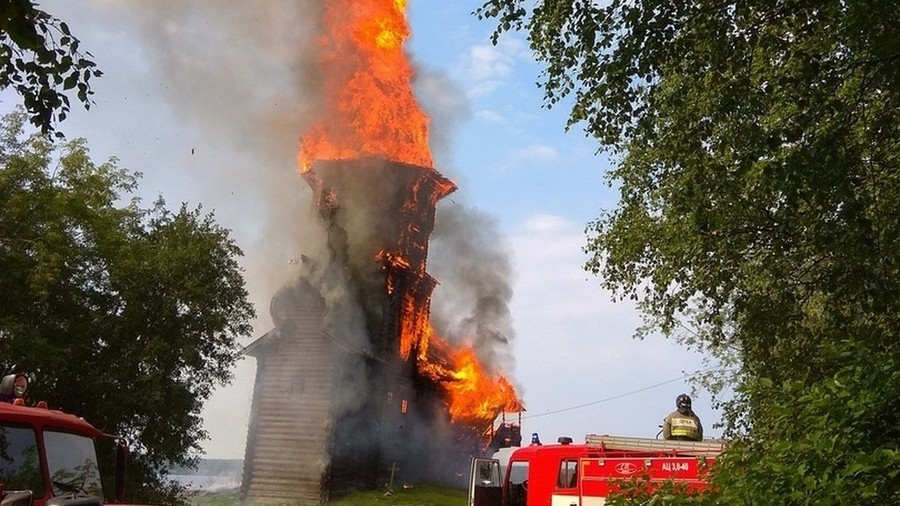 Teenage 'devil worshipper' suspected of burning down unique wooden church in Russia