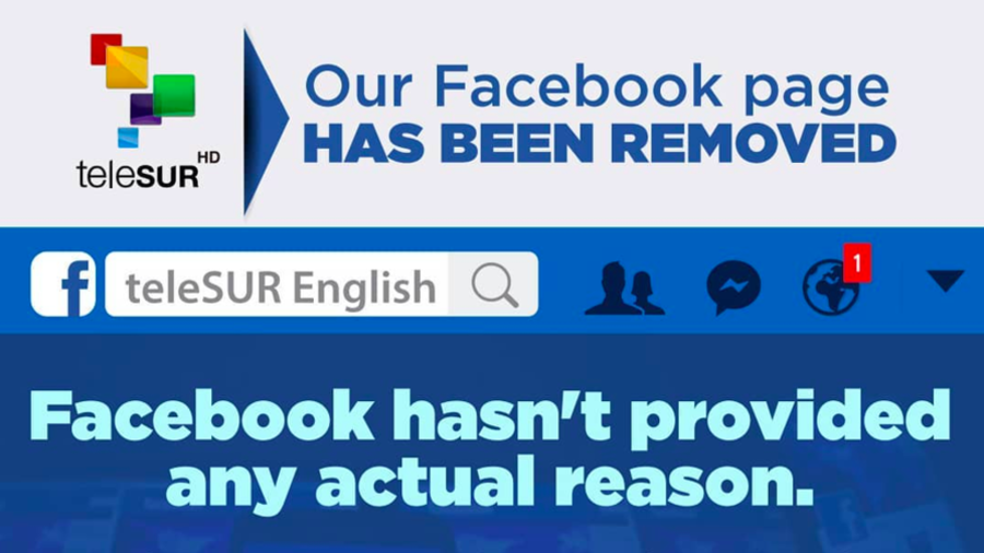 Telesur page takedown: Facebook becoming 'US govt's censorship vehicle'