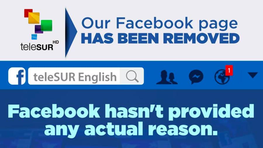 Telesur page takedown: Facebook becoming 'US govt's censorship vehicle'
