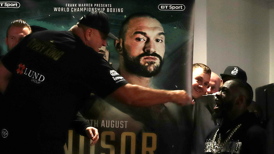 Ireland I'm here baby' WBC champ Deontay Wilder crashes weigh-in confronts Tyson Fury