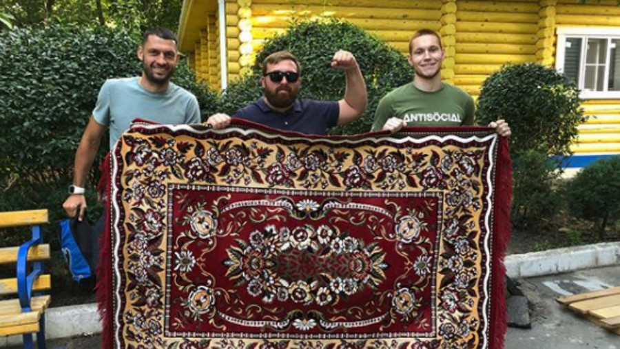 Russian football club release limited edition rug-style kit after fans' celebration