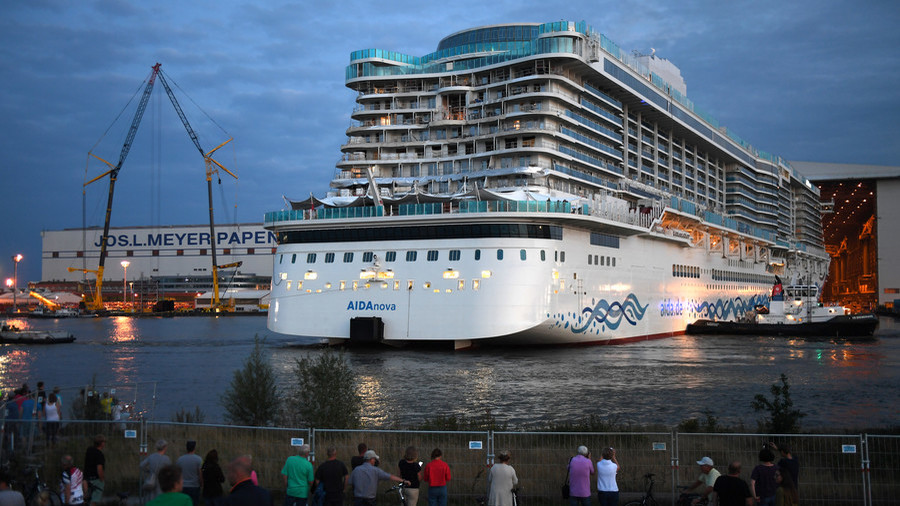Making a splash: World's first LNG-powered cruise ship launched in Germany