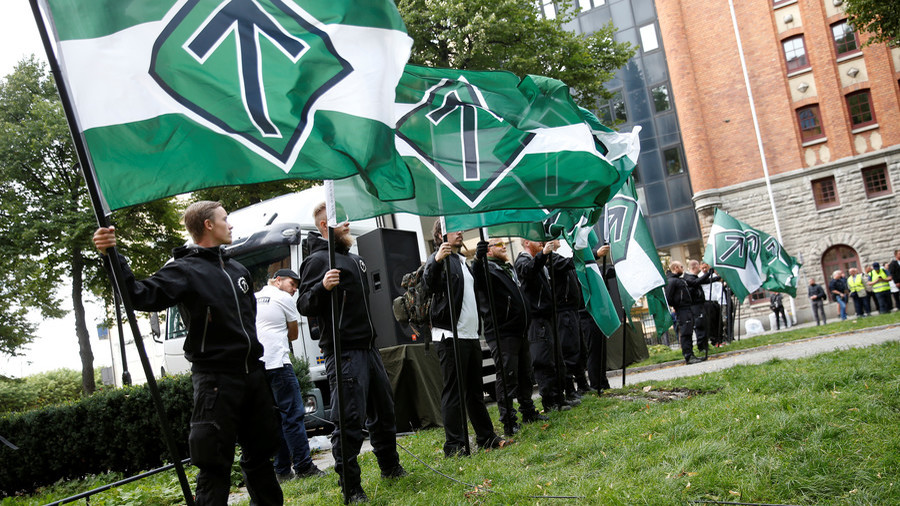 'Misinformed' v 'braindead'? Swedish neo-Nazi rally & counter-protesters call each other out (VIDEO)