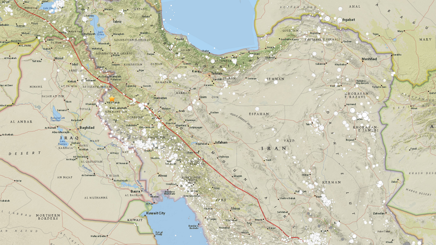 1 natural disaster strikes western Iran near Iraqi border