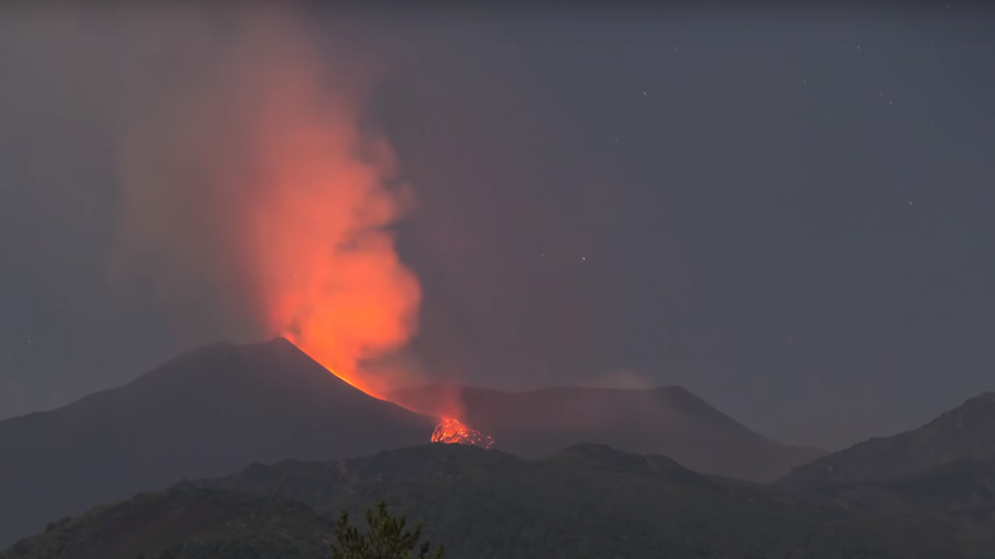 Back in action: Mount Etna, Europe's most active volcano, spews lava and ash (VIDEOS)