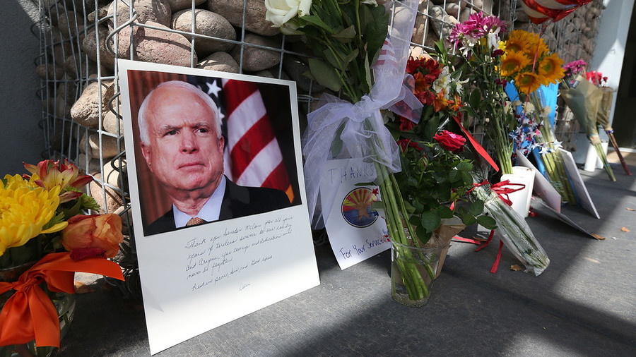 McCain beyond the grave… death gives life to political fight with Trump