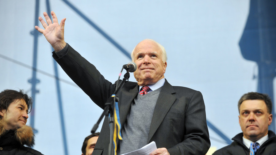 WaPo column praises McCain as human rights champion with photo of him next to 'literal neo-Nazi'