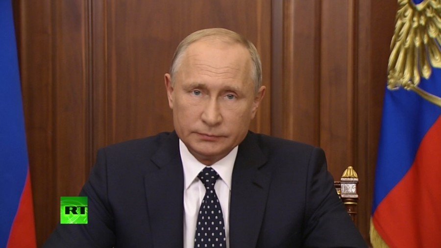 Putin tells Russians he is softening unpopular pension…