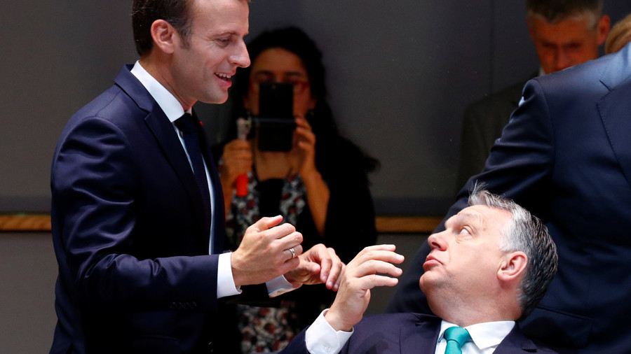 Macron doubles down after Orban & Salvini declare opposition to him as 'pro-migration leader'