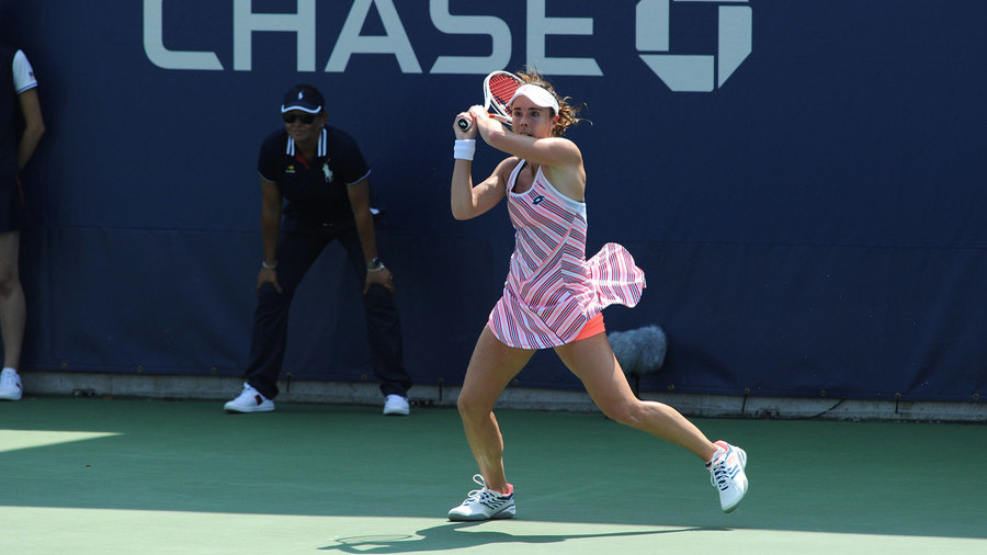 Sexism row after female player given code violation for removing shirt at US Open (VIDEO)