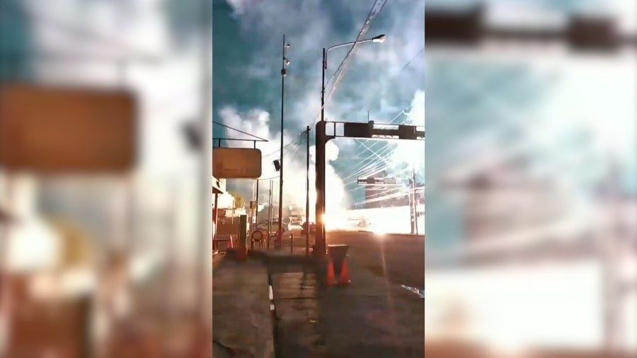 Venezuelan power station explosion illuminates night sky (VIDEOS)