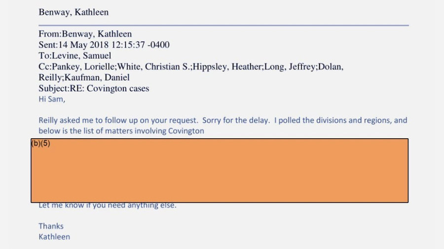Want to know about new FTC head's conflicts of interest? Too bad, that's redacted