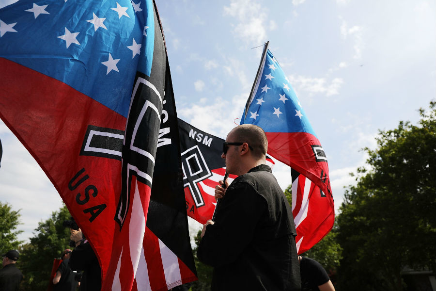Stars and Stripes replaced with Nazi Swastika in Wyoming park