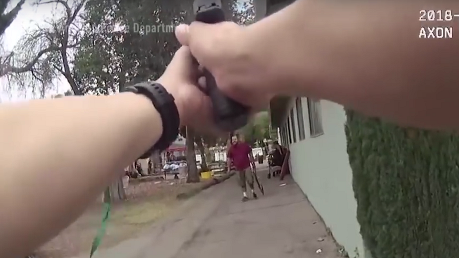 Graphic bodycam VIDEO shows LA cops shooting stabber & hostage dead
