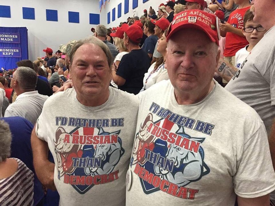 'Pro-Russia' t-shirts at Trump rally go viral, sending Democrats into meltdown