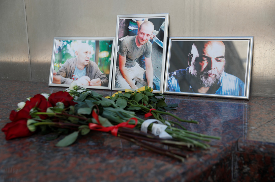 'They cannot be replaced': Russians pay respects to journalists killed in Africa