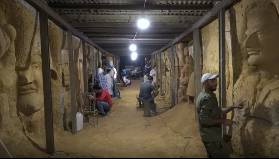 Syrian artists transform militant-built tunnels into sculpture galleries (VIDEO)
