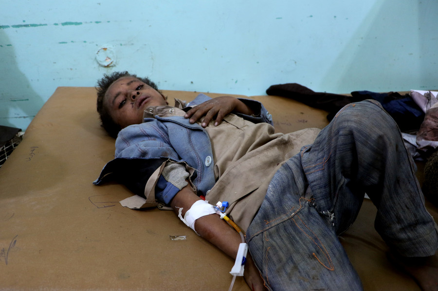 State Dept deflects questions on US-backed Saudi strike that killed dozens of children (VIDEO)