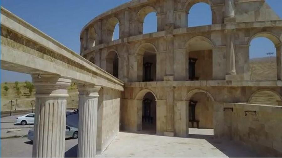 A little bit of Rome in Iraq: Amphitheater replica shown off in breathtaking drone footage (VIDEO)